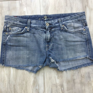 7 For All Mankind A Pocket Cut Off Shorts 28